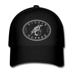 Black Crooks Coffee Baseball Hat