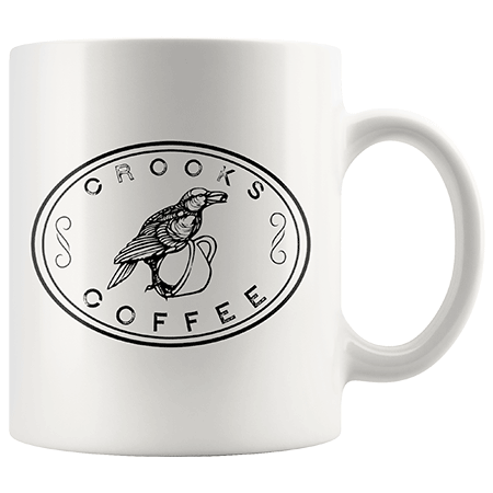 Crooks Coffee White Ceramic Mugs Image