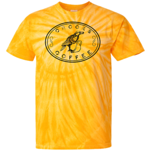 Yellow Crooks Coffee Tie Dye T-Shirt